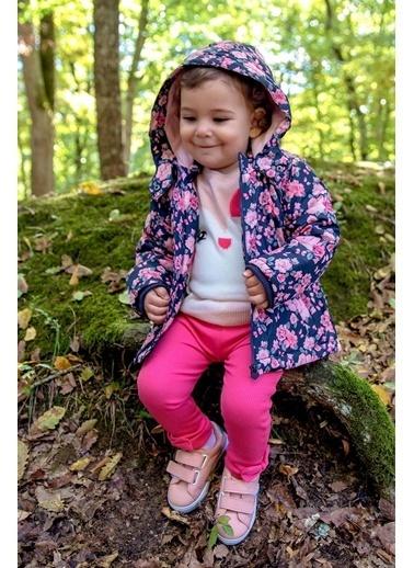DeFacto Kız Bebek Çiçek Baskılı Mont Lacivert